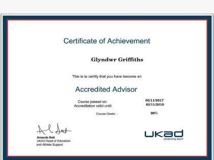 UK Anti Doping accredited